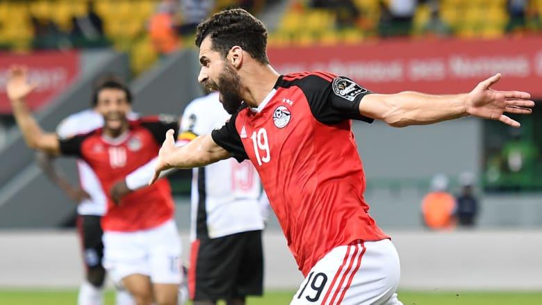السعيد يسعد المصريين بهدف الفوز في مرمى أوغندا