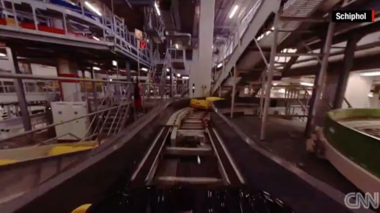 بالفيديو.. هذا ما تمر به حقيبة سفرك قبل إقلاع الطائرة