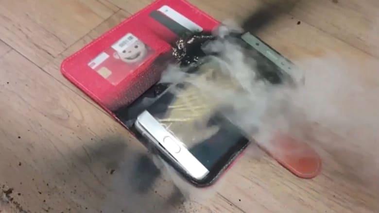 """سامسونغ تكشف عن لغز انفجار بطارية """"جالكسي نوت 7"""""""