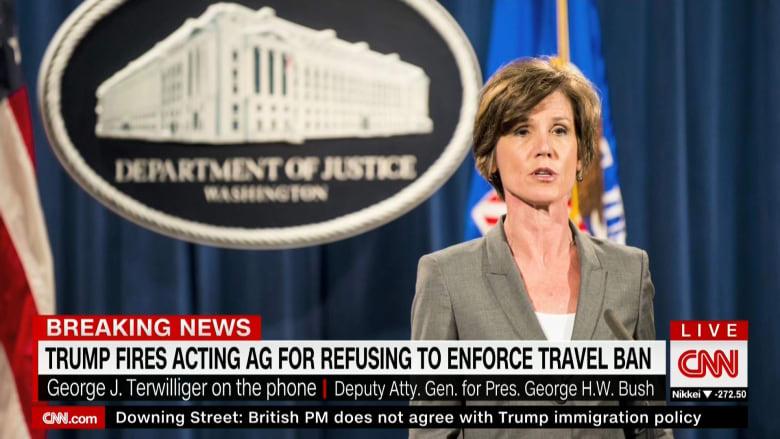 ترامب يقيل القائمة بأعمال وزير العدل لرفضها تطبيق حظر السفر
