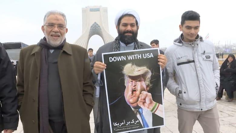إيرانيون بيوم الثورة: الموت لترامب ونحن مستعدون لقتال أمريكا