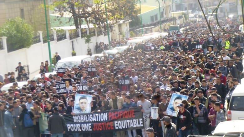 مسيرة صامتة في تيزي وزو بالجزائر احتجاجًا على مقتل طالب