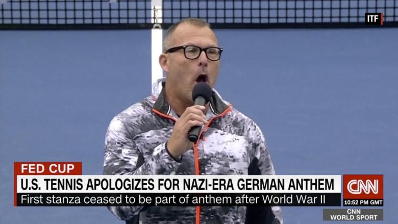 أمريكا تعتذر لألمانيا بعد غناء النشيد النازي في بطولة للتنس