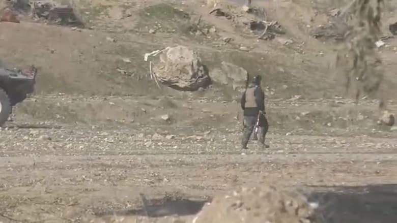 شاهد.. معارك بين الشرطة الاتحادية العراقية وتنظيم داعش قرب الموصل