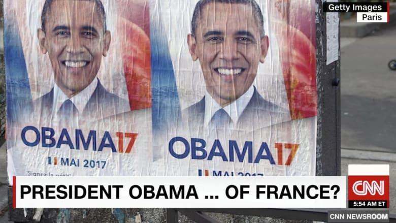 ترحيب حار بأوباما في نيويورك.. وحملة تطالب بترشحه لرئاسة فرنسا