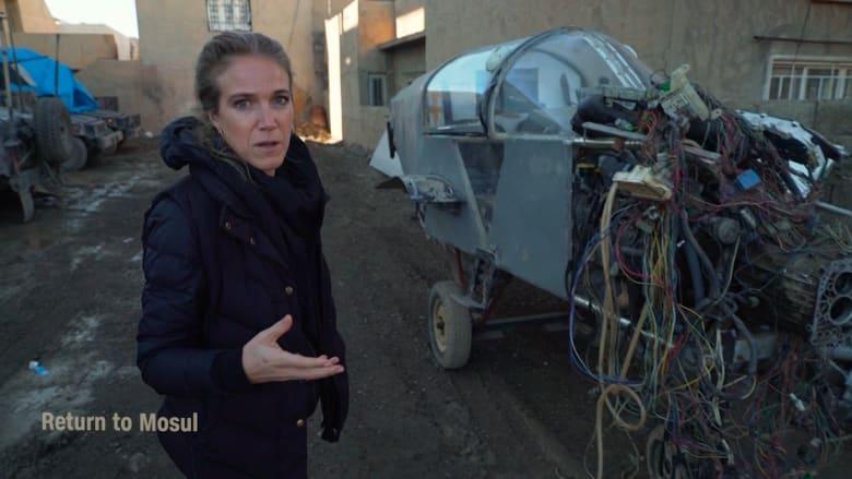 كاميرا CNN تكشف معامل تصنيع طائرات مجنحة انتحارية لداعش بالموصل