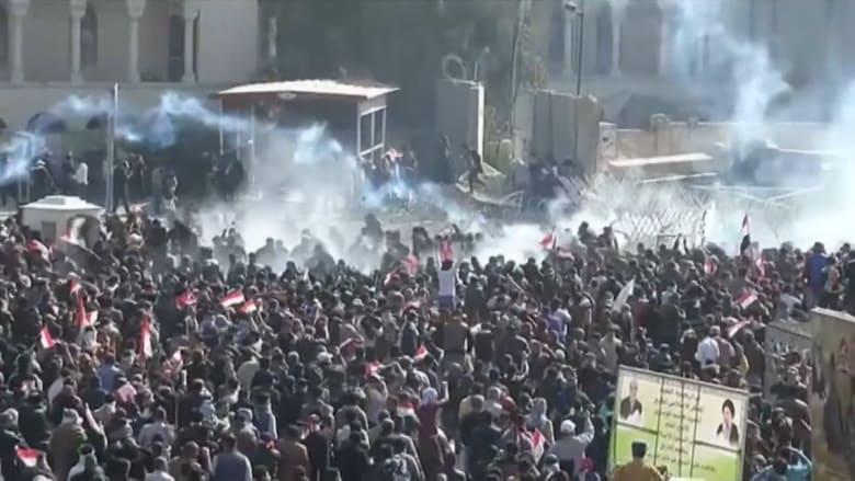شاهد.. مظاهرات في بغداد والصدر يتوعد الحكومة