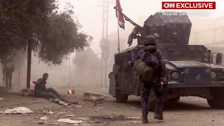 شاهد.. لقطات حصرية تظهر الرعب داخل مدينة الموصل