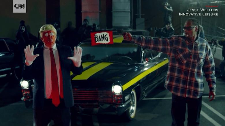 """مغني الراب سنوب دوغ """"يطلق النار"""" على """"ترامب المهرج"""" في فيديو كليب"""