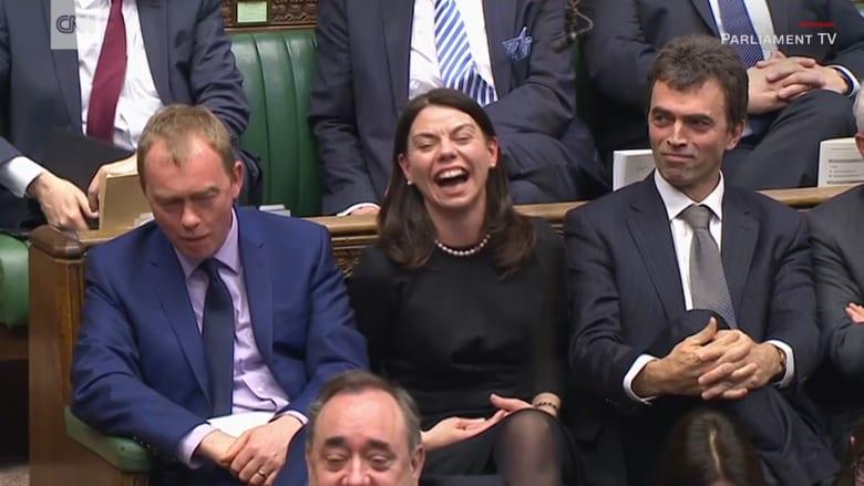 ضحك هستيري في البرلمان البريطاني خلال خطاب تيريزا ماي
