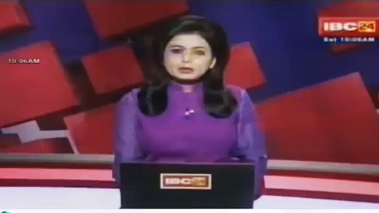 مذيعة أخبار تنقل خبر وفاة زوجها خلال نشرة مباشرة