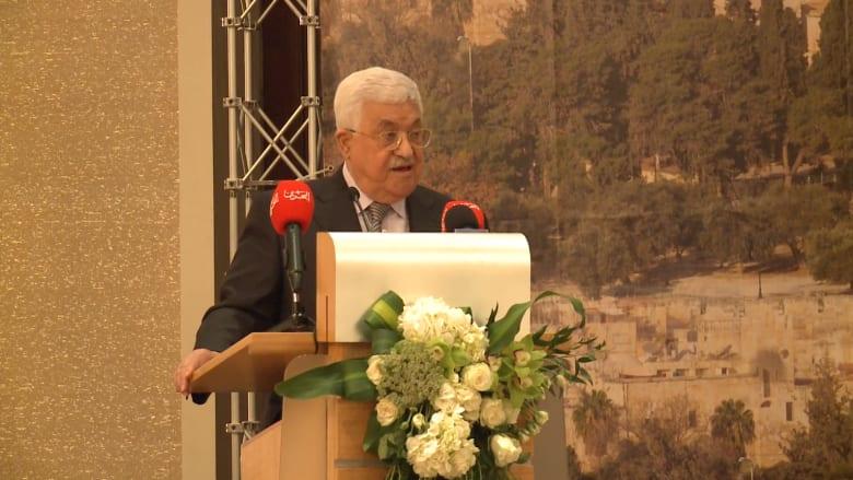 """محمود عباس: طلبنا من الإنجليز أن يقولوا """"sorry"""" ويعترفوا بفلسطين"""