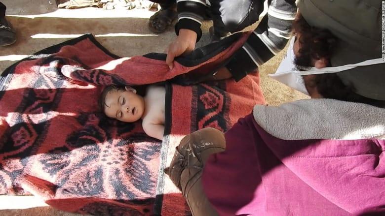 شاهد.. صور حصرية لضحايا في هجوم خان شيخون