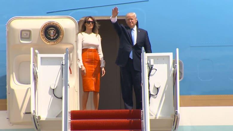 الجولة الخارجية الأولى.. ترامب يغادر الولايات المتحدة متجهاً إلى السعودية
