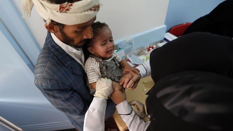يونيسف تناشد العالم: 55 ألف حالة إصابة محتملة بالكوليرا في اليمن