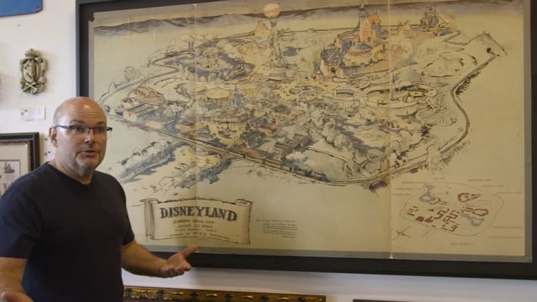 """شاهد.. أول خريطة رُسمت لمدينة """"ديزني لاند"""""""