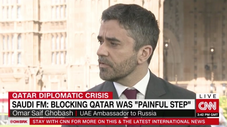 سفير الإمارات في موسكو لـCNN: أشك بقرصنة الروس لوكالة الأنباء القطرية