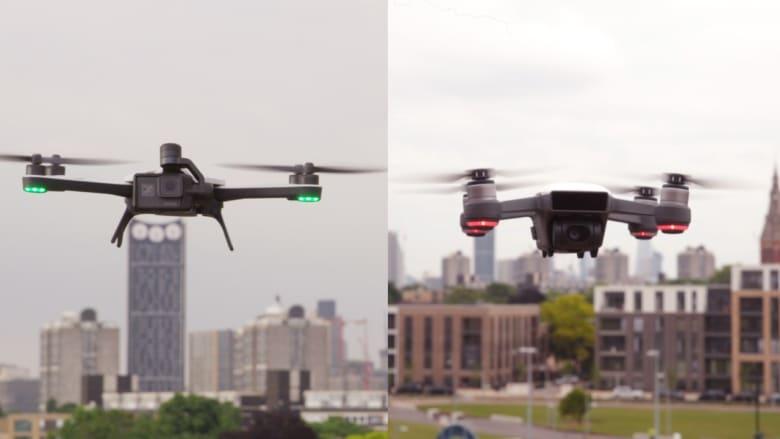 تحد بين طائرتين بدون طيار لإظهار أفضل التقنيات