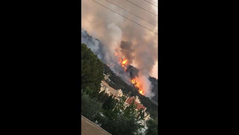 شاهد.. حريق هائل في منطقة الكمالية بالأردن