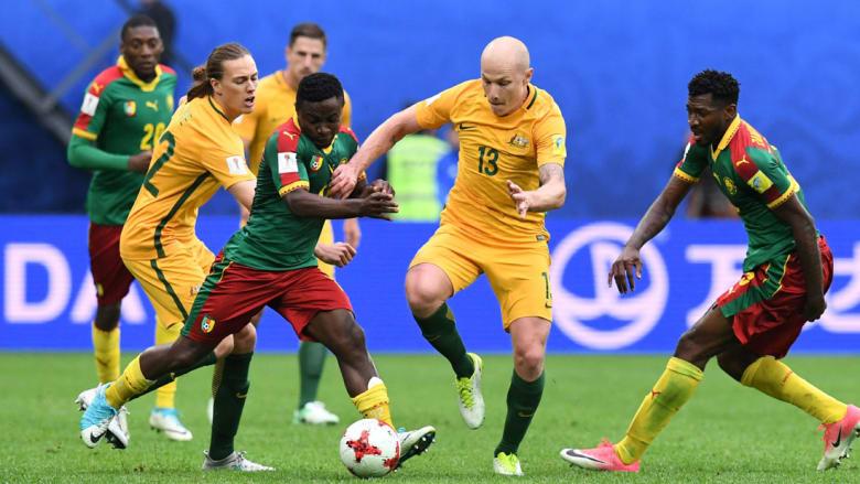 الكاميرون وأستراليا تتعادلان وتنتظران تعثر تشيلي أو ألمانيا