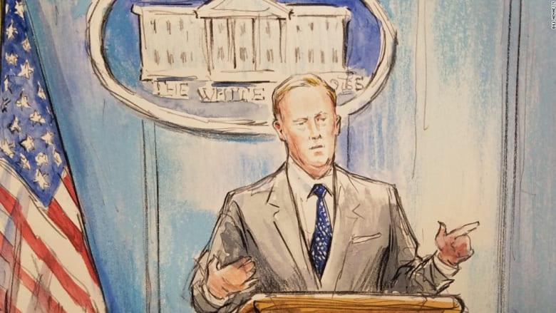 CNN ترسل رساماً لتغطية مؤتمرات البيت الأبيض الصحفية