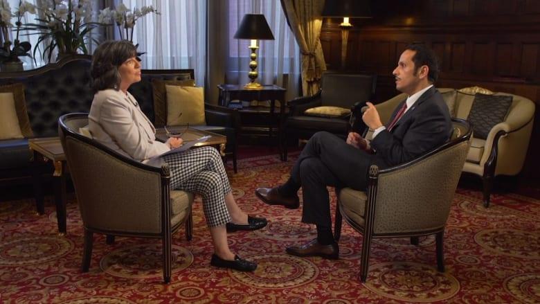 """وزير خارجية قطر يبين لـCNN ما يعتقد أنه سبب """"الحصار"""""""