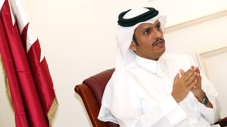 ما عدد الدول التي تحدث وزير الخارجية القطري مع مسؤوليها منذ بداية الأزمة؟