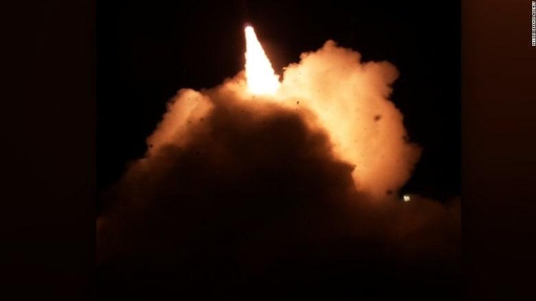 شاهد.. الجيش الأمريكي يختبر صاروخا دفاعيا