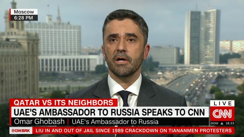 عمر غباش لـCNN: اتفاق تيلرسون مع القطريين لا يحل المشكلة الأساسية