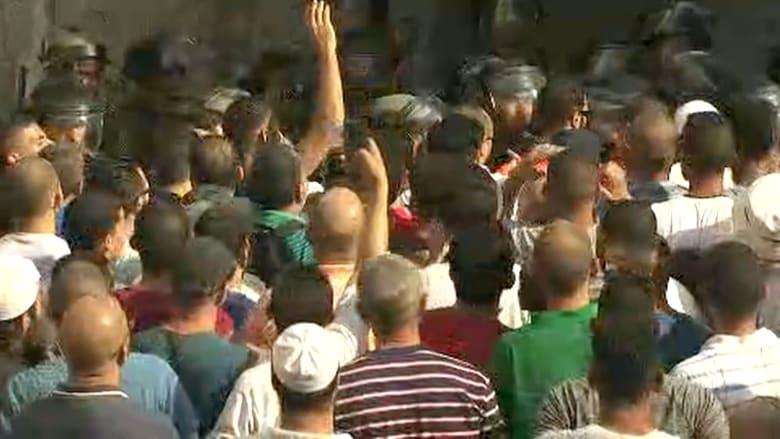 شاهد.. مواجهات مع عودة المصلين إلى المسجد الأقصى