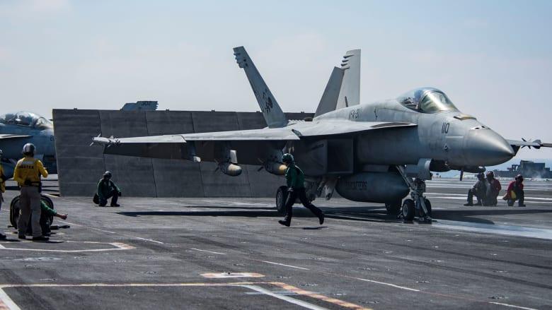 طائرة إيرانية بدون طيار تقترب من مقاتلة أمريكية في سماء الخليج