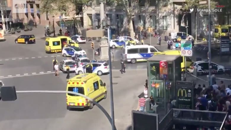 شاهد.. كيف وقع هجوم راس رامبلاس في برشلونة؟
