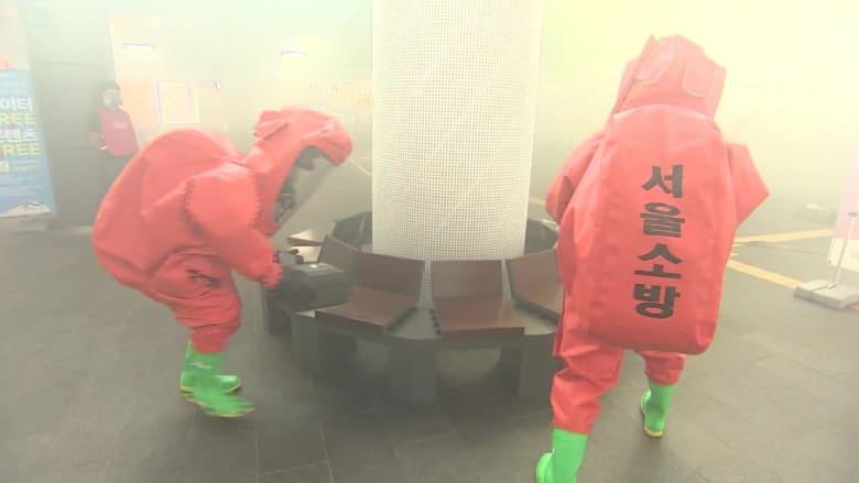 شاهد.. سكان سول يتدربون على مواجهة هجوم محتمل من كوريا الشمالية