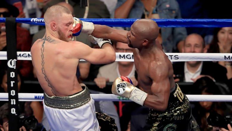 الملاكم مايوثر يهزم بطل الفنون القتالية المشتركة ماكغريغور ويحقق فوزه الـ50 على التوالي