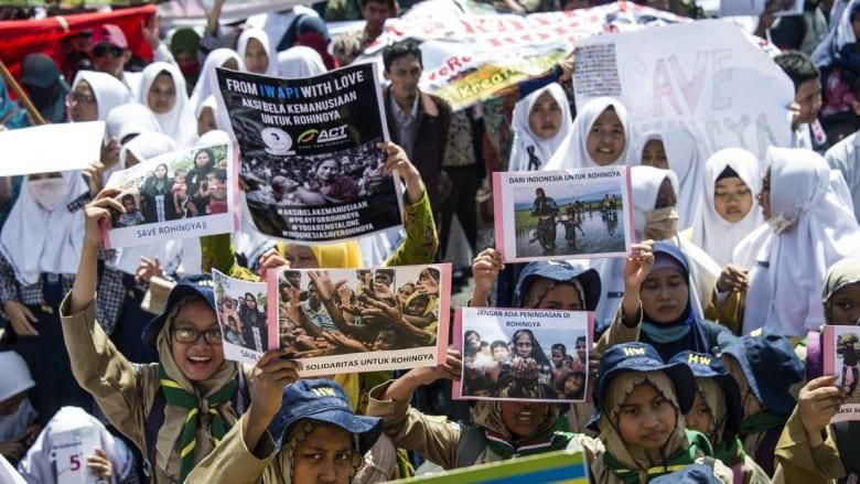مظاهرات تضامنية مع الروهينغا بعدة دول.. وصمتٌ من زعماء الغرب