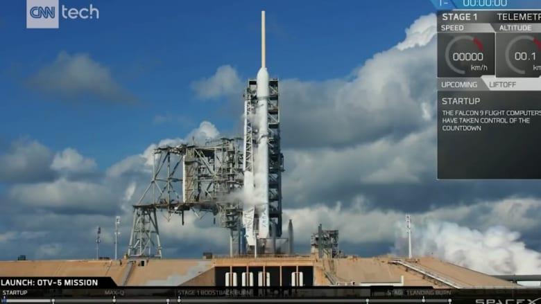 """صاروخ """"فالكون 9"""" ينقل مركبة فضاء سرية للجيش الأمريكي"""