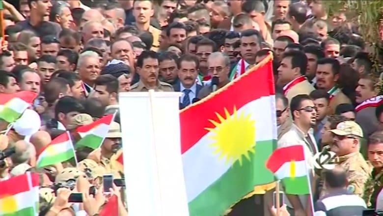 شاهد.. مظاهرات مؤيدة لاستفتاء كردستان