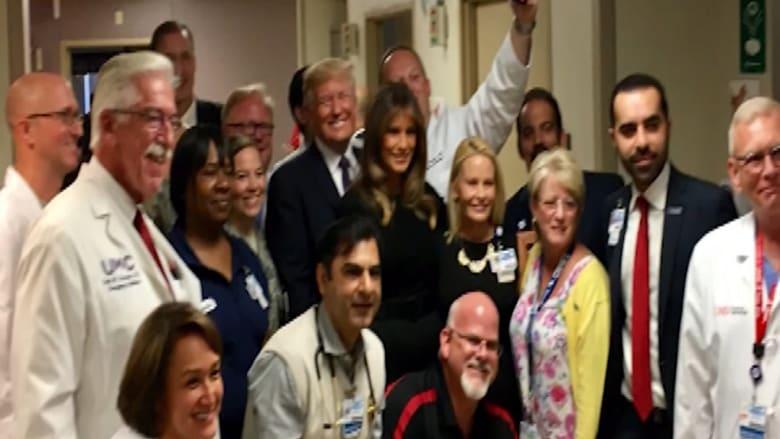 شاهد.. ترامب يزور لاس فيغاس ويتفقد الناجين من حادث إطلاق النار