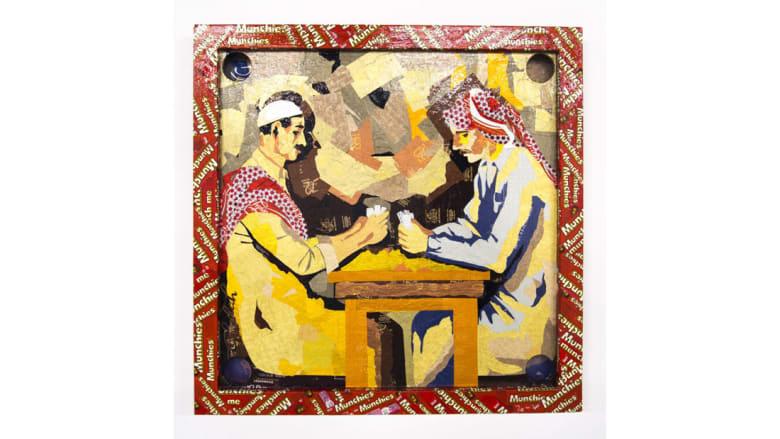 فنانة سعودية تستخدم أغلفة الشوكولاتة لصنع هذه اللوحات