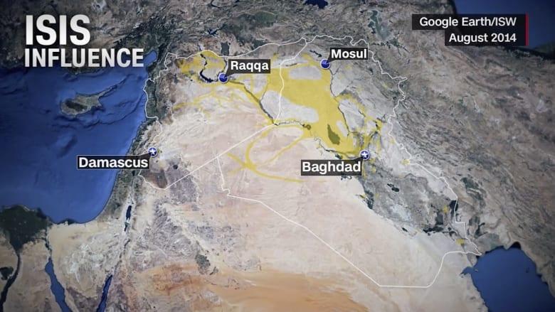 شاهد كيف تآكل نفوذ داعش خلال ثلاث سنوات