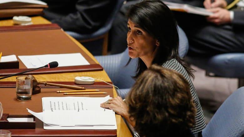 سفيرة أمريكا بـUN بعد فيتو روسيا: قتلوا آلية التحقيق وقدرتنا على ردع هجمات كيماوية بسوريا