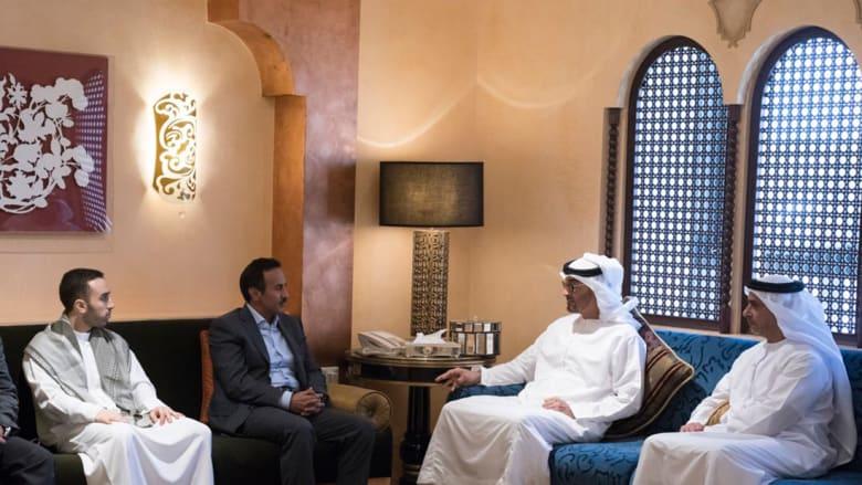 محمد بن زايد يعزي نجل صالح في أبوظبي