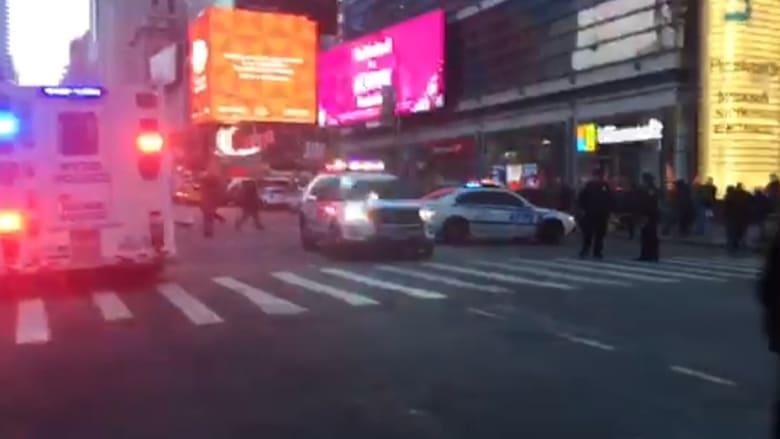 المشاهد الأولى بعد انفجار في نيويورك قرب سلطة الموانئ بمانهاتن