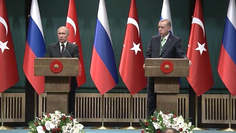 بوتين لأردوغان: قرار القدس يصب الزيت على النار