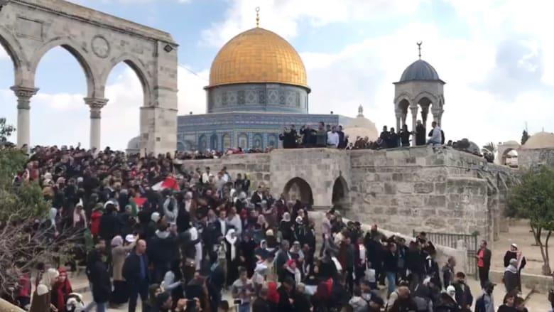 شاهد.. مظاهرات في القدس ضد قرار ترامب