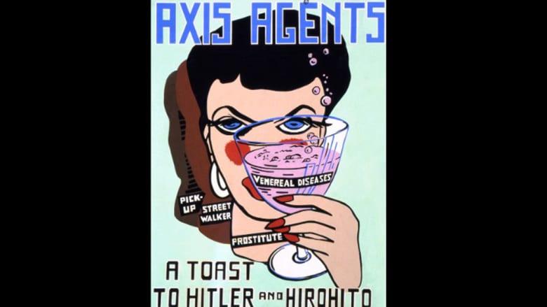 هذه الملصقات المغرية..هل حمت الجنود الأمريكيين من الأمراض الجنسية خلال الحرب العالمية الثانية؟