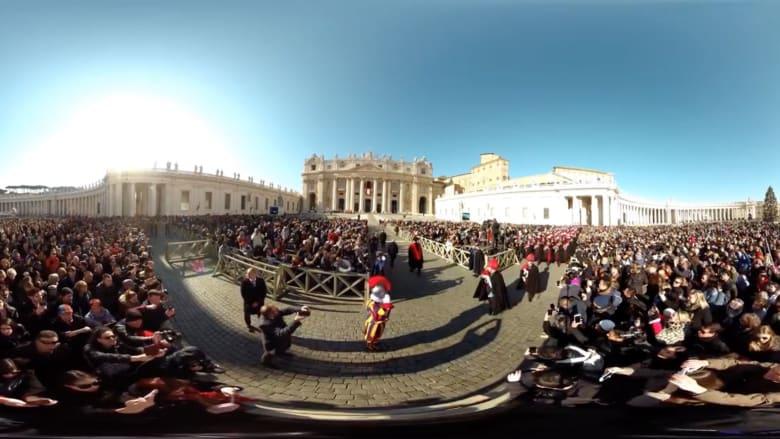 بتقنية 360 درجة.. شاهد يوم عيد الميلاد في الفاتيكان