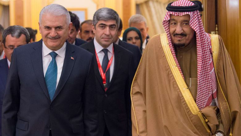 رئيس وزراء تركيا في السعودية: وجهات نظرنا متطابقة بنسبة 90 % حول قضايا المنطقة