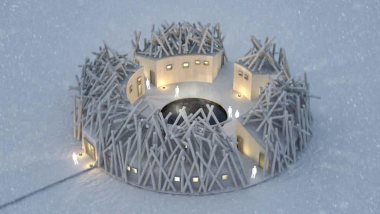 نظرة داخل الفندق العائم في السويد