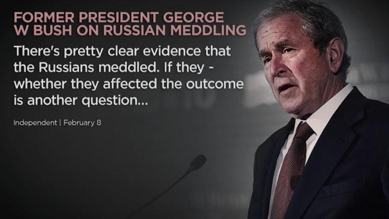 جورج بوش من أبوظبي: روسيا تدخلت في انتخابات امريكا
